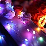 LED Lichterkette, Zorara 2er 10m 100 LEDs Lichterketten, USB Lichtervorhang Wasserdicht 8 Modi für Innen und Außen, Weihnachten, Party, Kinderzimmer, Zimmer DIY Deko Lichterkettenvorhang (Mehrfarbig) - 6