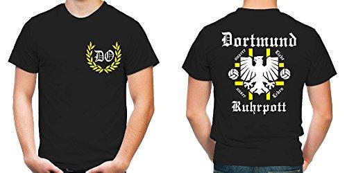 Dortmund Ruhrpott T-Shirt | Fussball | Männer | Herrn | Zeche | Tradition | Ruhrpott | Ultras (XL)