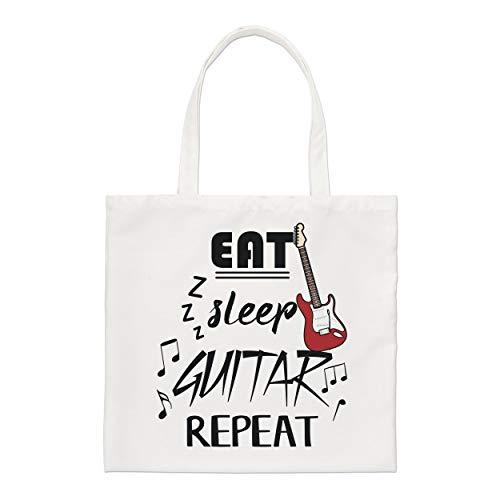 Eat Sleep Guitarra Repetición Regular Bolsa Bolsa