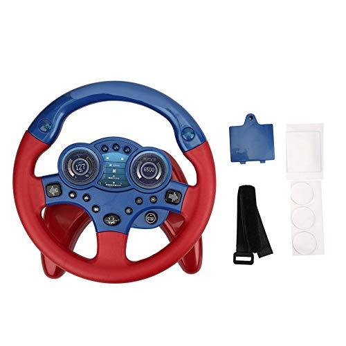 Juguete modelo de simulación de volante de coche, juguete de volante eléctrico Juguetes cognitivos para la primera infancia con juego de roles de luz y sonido para niños y niñas