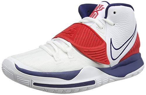 Nike Kyrie 6, Zapatillas de Baloncesto. Hombre, Blanco, Rojo y Azul, 45.5 EU