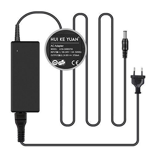 HKY Fuente de alimentación 24 V 3,75 A AC adaptador convertidor 5,5 x 2,5 mm para purificador de agua, cámara CCTV, monitor LCD, silla de masaje, impresora, altavoz, bicicleta estática