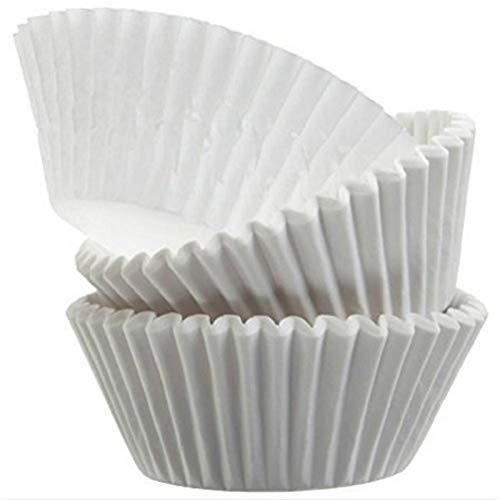 Kentop 500pcs Moules à Muffin Papier Mini Blanc Papier Cupcake Doublure Caissette à pâtisserie Paper Cup Gâteau moules de cuisson Barquette