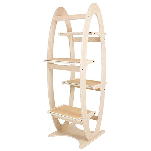 FrontPet Apex Modern Cat Tree Tower / 23 L x 23 W x 68 H / Cat Trees and Towers / Cat Climbing Tree...