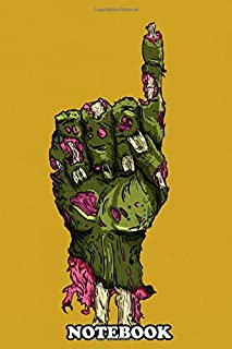 Notebook: A Zombie , Journal for Writing, College Ruled Size 6