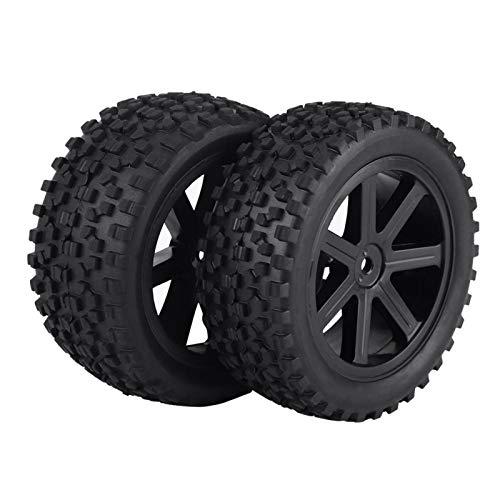 Keenso Neumático de Goma para Coche RC 4 Uds, Piezas de Accesorios de neumático de Rueda de neumático de camión RC para 1/10 ZD Racing Buggy Crawler Car(Negro)