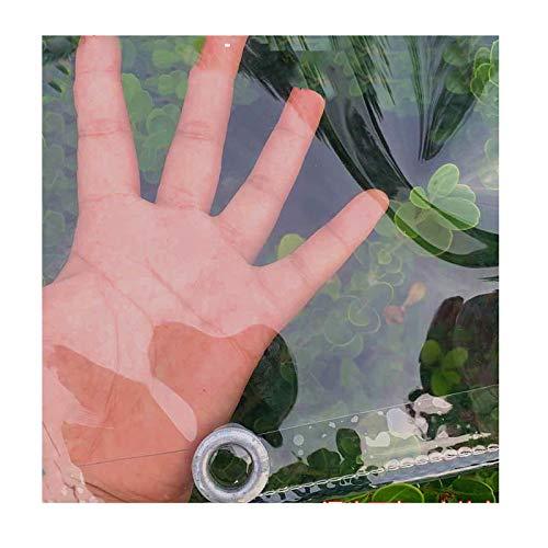 GDMING Transparente Vinilo Lonas, Exterior Impermeable A Prueba De Viento PE El Plastico Cubrir con Ojales, Funda para Muebles De Jardín, 22 Tamaños (Color : Claro, Size : 1.8x2m)