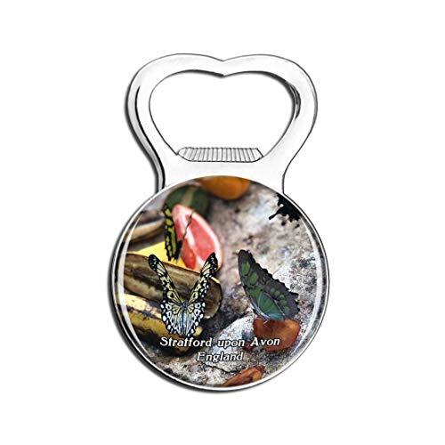 Weekino Strat-Upon-Avon Schmetterlingsfarm Großbritannien England Bier Flaschenöffner Kühlschrank Magnet Metall Souvenir Reise Gift