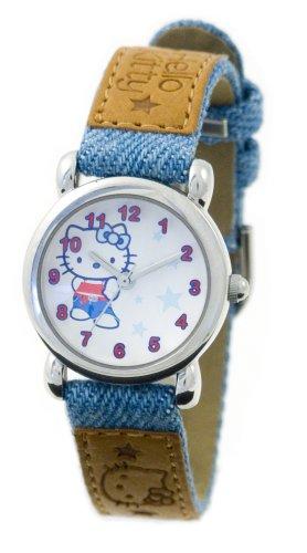 Hello Kitty per bambini 24236-Orologio al quarzo, con laccio in plastica, blu