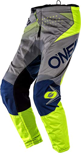 O'Neal Element Factor Youth MX DH MTB Pant Broek lang grijs/blauw/geel 2020 Oneal