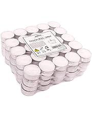 Pajoma - Velas de té sin perfume, 100 unidades, tiempo de combustión: 4 horas