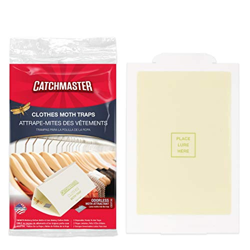 Catchmaster Pro Strength  Clothes Moth Trap  Non Toxic  Glue Trap with Pheromone Attractant  Pack of 6 Traps