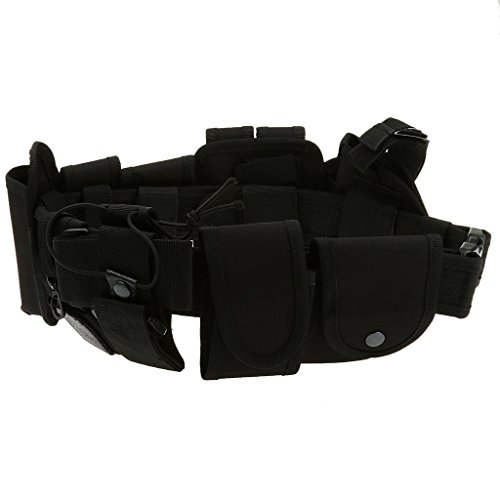 Find Discount Bonarty Utility Belt Waist Bag Security Police Guard Kit with Radio Holster Pouch