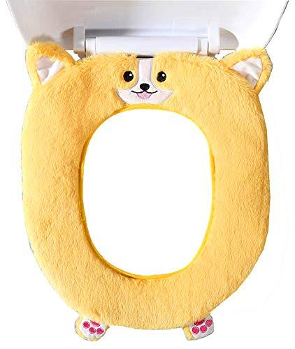 Gifts Treat WC-Sitzbezüge Cute Animal Style WC Zubehör Weiches Plüsch Bad Wärmer Matte (Corgi)