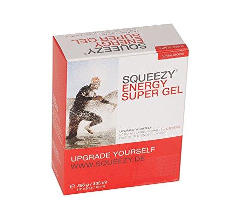 Squeezy Energy Super Gel, 12 Beutel à 33 g, Zitrone & Koffein