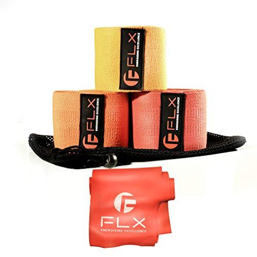 Set di fasce di resistenza (3) per uomo e Donna - Fasce di resistenza in Tessuto per esercizi, Allenamento, Fitness, bottino, glutei, fianchi, gambe, e braccia