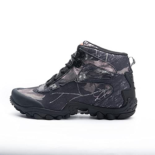 Fnho Calzado Deportivo para Hombres y Mujeres,Ocio Deportes al Aire Libre Calzado,Zapatos Impermeables para Caminar de caña Alta, Zapatos para Caminar al Aire Libre para Hombres-Gris_41