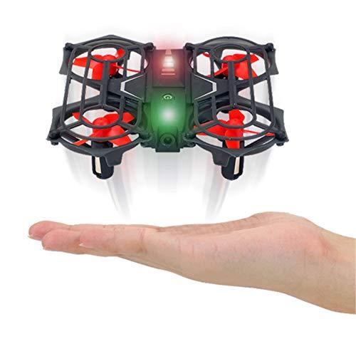 Mini aviones no tripulados para los niños, juguete de control remoto de helicóptero teledirigido Quadcopter avión no tripulado Altitud espera, el modo 3D sin cabeza tirones Una tecla Retorno,Negro