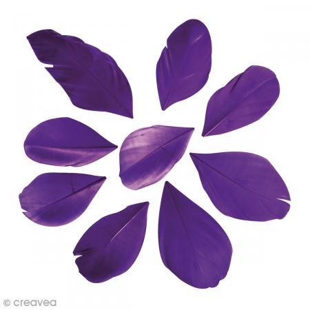 Plumes coupées Violet prune 6 cm - 2 g