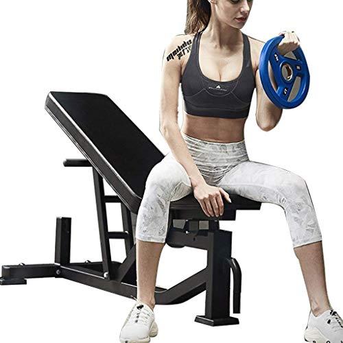 HAOYF Multifunktionale Hantelbank für Sit-Up-Fitnessgeräte, Indoor-Sportgeräte, verstellbare Hantelbank, 300 kg (Farbe: Schwarz, Größe: 136 x 64,4 x 44 cm)