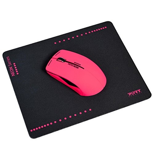 Port Connect Neon Funkmaus, 1200DPI, Pad, pink
