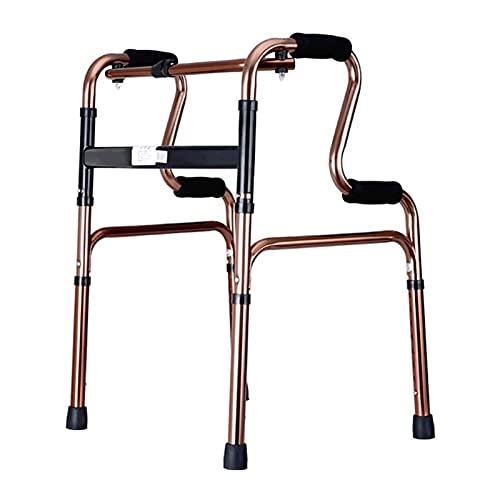 Caminantes para personas mayores Fácil de operar el caminante plegable de servicio pesado, caminante bariátrico para personas mayores, accesorios de Walkers incluidos (Color: Gold) Rollator Walker, ay ✅