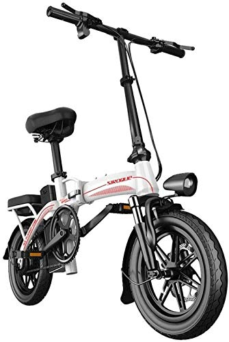 Electric Bike Electric Mountain Bike, Electric Bike for Adults Electric Bike 14 Inch Tires 400W Motor 25km/h Foldable E-Bike 30AH Battery 3 Riding Modes for The Jungle Trails, The Snow, The Beach