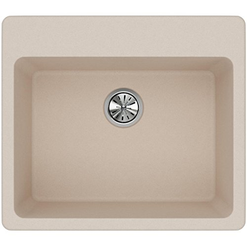 Elkay Quartz Classic ELG2522PT0 Putty Single Bowl Top Mount Sink