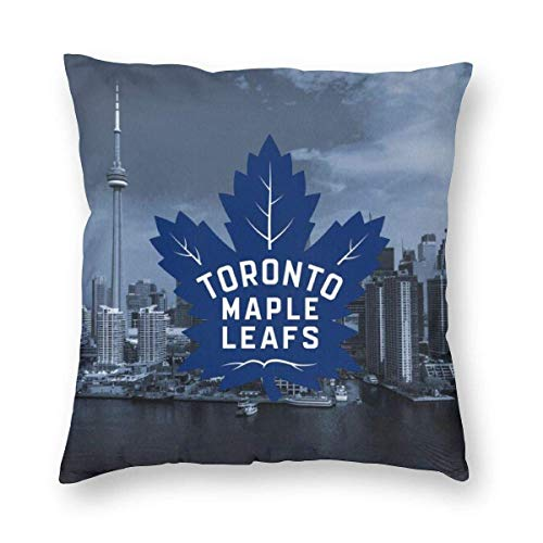 Throw Pillow Cover Cushion Cover Pillow Cases Decorative Linen Toron-To Maple Leafs for Home Bed Decor Pillowcase,45x45CM