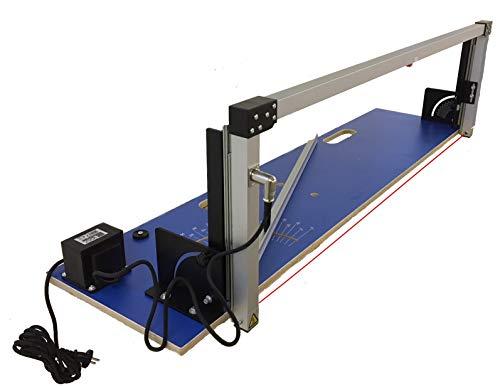 BMK Dämmstoffschneider Styroporschneider | Schnittlänge 129cm, Schnitthöhe 33cm | Thermosäge Heißer Draht für WDVS aus Styropor und Styrodur