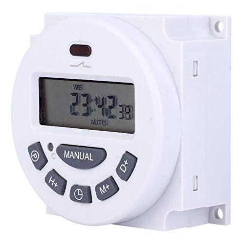LANTRO JS - Interruptor de temporizador digital L701 220V 12V, Mini pantalla LCD de alta precisión Temporizador digital Control de tiempo Interruptor de tiempo(12V)