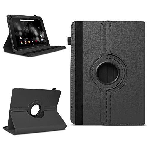 NAmobile Schutzhülle kompatibel für TrekStor Primetab P10 Tablet Hülle Tasche Hülle Cover 360 Drehbar, Farben:Schwarz