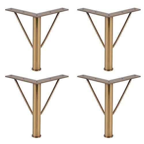 GWFVA Metalen roestvrijstalen steunvoeten, gouden badkamerkast voeten TV-kast voeten 20 cm meubelpoten hardware kastpoten × 4 (twee stijlen)