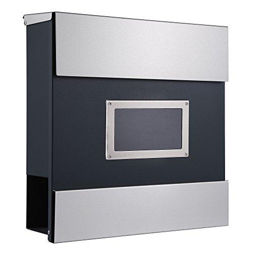 Zelsius Wandbriefkasten, Briefkasten mit Sichtfenster und Zeitungsfach, Postkasten, Mailbox (Mailand)