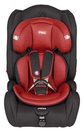 Piku Moon NI20.6292 - Silla de coche reclinable, grupos 1/2/3 (9-36 kg, 1-12 años), color rojo