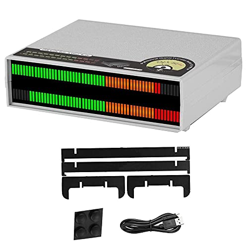YOKOKO Medidor de Nivel de Sonido de 56 bits Analizador de Pantalla de Audio Visualizador de Espectro de MúSica LED LáMparas de Escritorio para EstéReo DoméStico, A