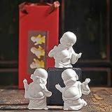 KKUUNXU Ceramica Maitreya Buddha Decorazione Casa Stile Cinese Soggiorno Decorazione Ufficio Desktop Pendolo Ridere Buddha