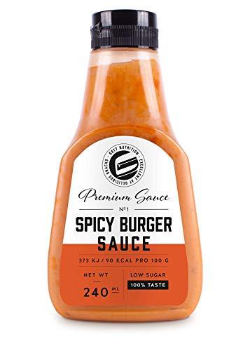 Got7 Premium Sauce No.1 Soße Grillsoße Perfekt Zur Diät Abnehmen Fitness Bodybuilding 240ml (Spicy Burger Sauce)