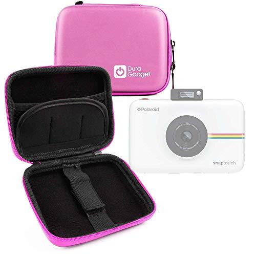 DURAGADGET Funda Rígida Rosa para Cámara Polaroid Snap Touch 2.0 - con Mini Mosquetón