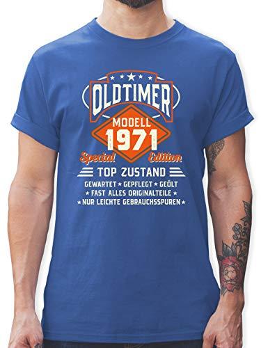 Geburtstag - Oldtimer Modell 1971 - XXL - Royalblau - Tshirt 1971 - L190 - Tshirt Herren und Männer T-Shirts