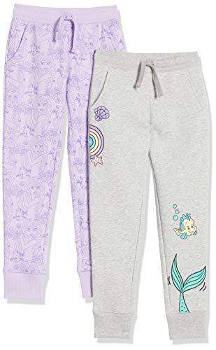 Spotted Zebra Disney Star Wars Marvel Frozen Princess Fleece Jogger Sweatpants pants, 2er-pack Prinzessin Ariel, XL (EU 146 -152 CM)
