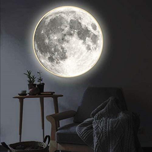 ZGQA-GQA Lámpara Retro cálida Moderno Espejo de Maquillaje con Luna Ligera lámpara de Pared Sala de Estar Pasillo Pasillo Corredor Porche Espejo Decorativo Pared luz Creativa Regalo