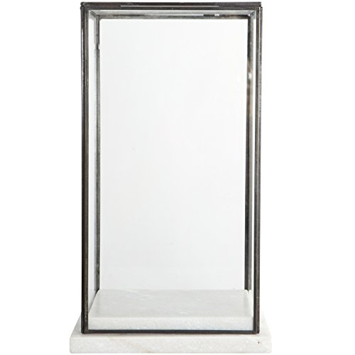 House Doctor - Glasschaukasten/Vitrine/Showcase - Marmor/Glas - 17 x 28 cm - Höhe 38 cm
