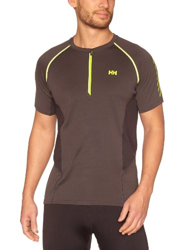 Helly Hansen Pace 1/2 Zip T-Shirt Manches Courtes Homme Ebony S