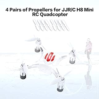 4 Pairs of Original Drone Propeller Parts Portable CW/CCW Propellers for Eachine JJR/C H8 Mini RC Quadcopter