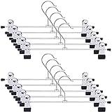 tkone ズボンハンガー スカートハンガー クリップ すべらない ハンガー 頑丈 物干し 強力クリップ 多機能ハンガー ブラック 10本組 幅30㎝