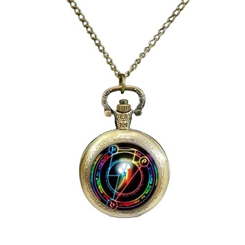 Rainbow Dash Arcane Circle My Friendship is Magic MLP - Reloj de bolsillo con cúpula de cristal inspirado en cabujón
