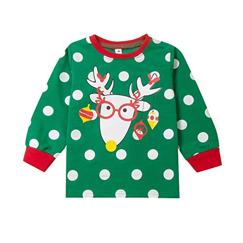 Pistazie - Sudadera de manga larga para nios y nias, cuello redondo, cuello redondo, ropa clida, disfraz de recin nacido verde L