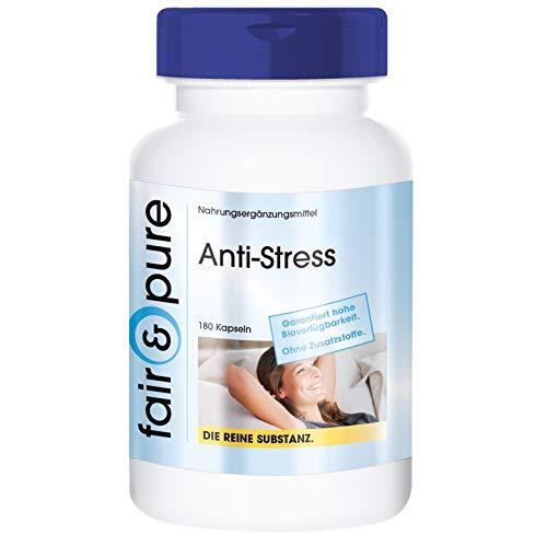 Anti-Stress - Complejo para combatir el estrés - Con vitaminas del grupo B, Ginseng, selenio, taurina, etc. - Alta pureza - 180 Cápsulas