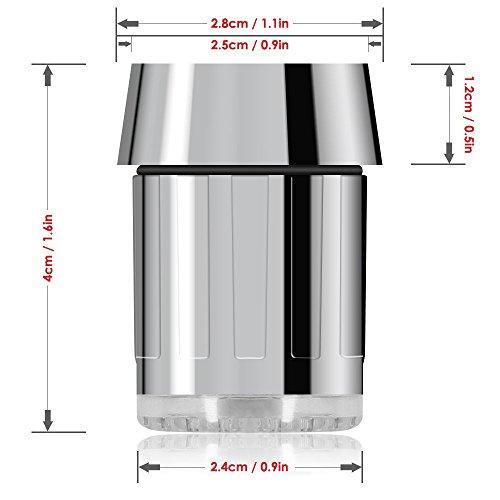 LED Wasser Wasserhahn ändert sich die farbe je nach Temperatur auf der Wasser. Blau für Cool, grün für Warm, rot für Hot. Passt Männlich & Innengewinde Wasserhähne perfekt für Küchen und Badezimmer von toilight - 4